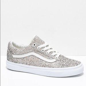 Size 8 women's Glitter Vans